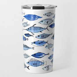 Aquarium blue fishes Travel Mug