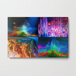 4Glitches Metal Print