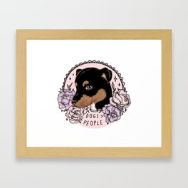 DOGS > PEOPLE Framed Art Print