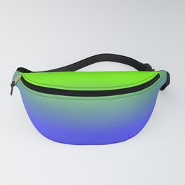 Neon Blue and Neon Green Ombré  Shade Color Fade Fanny Pack