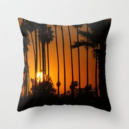 Striped Sunset Throw Pillow