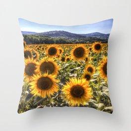 The Sunflower Summer Throw Pillow