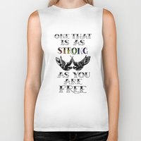 larry stylinson Biker Tanks featuring One that's strong as you are free (Larry Stylinson) by Arabella