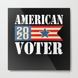 Abstract Voter Illustration Metal Print