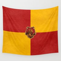 gryffindor Wall Tapestries featuring Gryffindor iPhone 4 4s 5 5c, pillow, case by neutrone