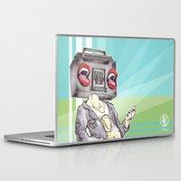 radiohead Laptop & iPad Skins featuring RadioHead by Andrea Fonseca Illustration