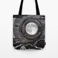 lights Tote Bags featuring Moon Glow by brenda erickson