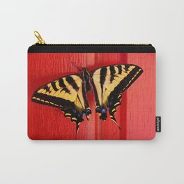 tiger swallowtail butterfly on unusual background Carry-All Pouch