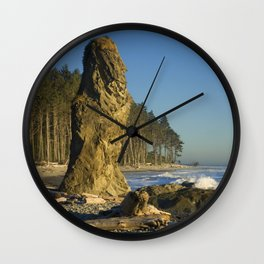 Sea Stack on Ruby Beach in Washington State Wall Clock