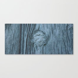 Frosted blue weathered wood Canvas Print