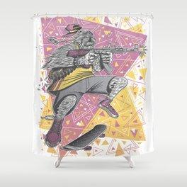 Skate Wars Yeti Shower Curtain