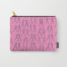 Round One BUBBLEGUM PINK / Vintage boxers Carry-All Pouch