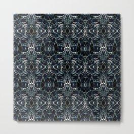 Fractal Space Pattern Metal Print
