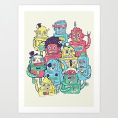Robot's can't Smile Art Print