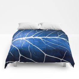 Glowing Grunge Veins Comforters