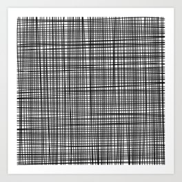black and white grid Art Print