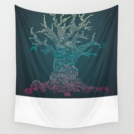 Trees of Neon Wall Tapestry