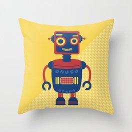 Rob-Bot03 Throw Pillow
