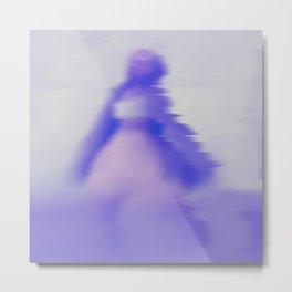 blurry blue woman Metal Print