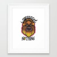 chewbacca Framed Art Prints featuring Chewbacca by Laura Pato