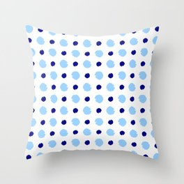 spot and blot 26 blue Throw Pillow