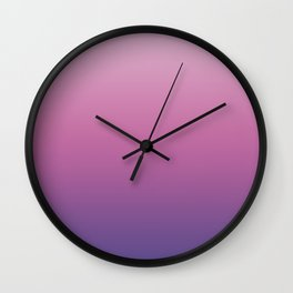 Pink Ultra Violet Ombre Gradient Pattern Wall Clock