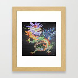 Bright and Vivid Chinese Fire Dragon Framed Art Print