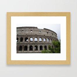 Outside the Coliseum Framed Art Print