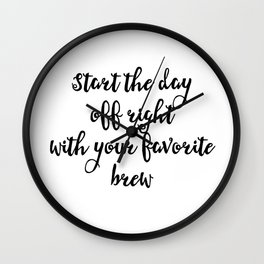 Your Favorite Brew Wall Clock