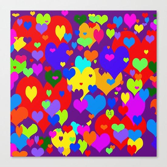 Mille coeurs gais Canvas Print