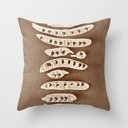 Abstract chinese tower Throw Pillow