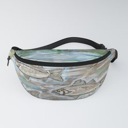 School of White Perch Fanny Pack