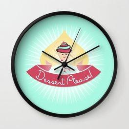 Dessert Please! (Blue) Wall Clock
