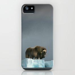 Muskox Chillin' on an Iceberg iPhone Case