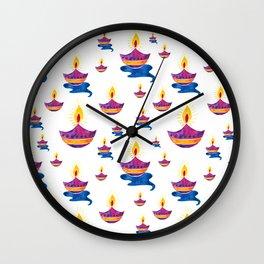 Diwali Diyas  Wall Clock