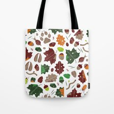 Forest floor tile pattern Tote Bag