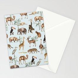 Kingdom of Animal - Blue Stationery Cards