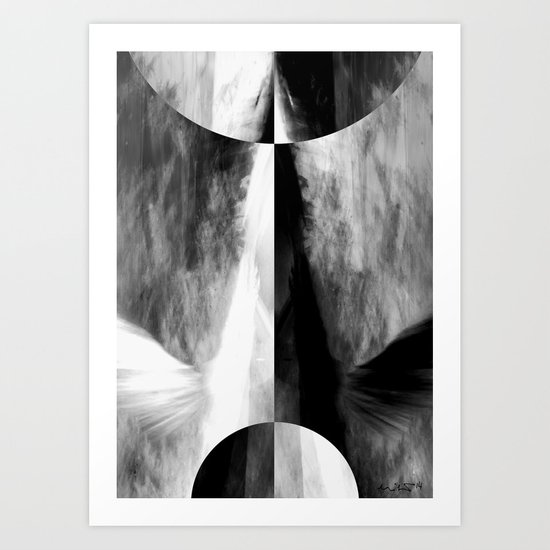 There is only One Way. No.1 Art Print