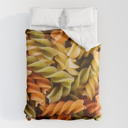 Pasta Noodles Pattern (Color) Comforters