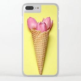 Tulip in a Cone Clear iPhone Case