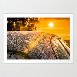 Car Detailing Sunset Beading Art Print