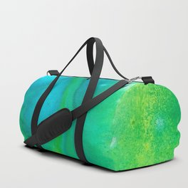 Abstract in Blue Green Duffle Bag