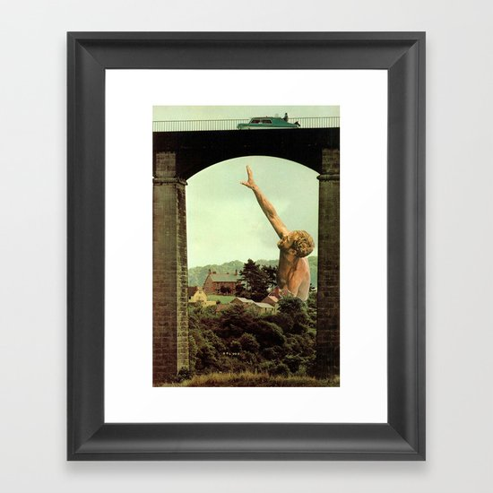 drowning in the countryside Framed Art Print