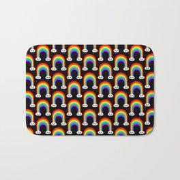 Happy Rainbow (Many On Black) Bath Mat
