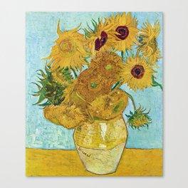 "Vincent van Gogh,"" Vase with Twelve Sunflowers "" Canvas Print"