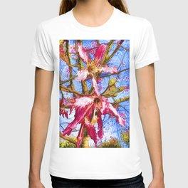 Tropical Flowers Design  T-shirt
