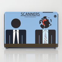 movie poster iPad Cases featuring Scanners - Altenative Movie Poster by maclac