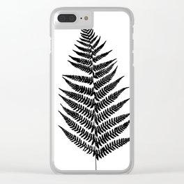 Fern silhouette Clear iPhone Case