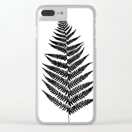 Fern silhouette Clear iPhone Case