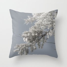 fluffy tree by the sea Throw Pillow